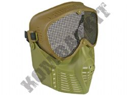 Airsoft BB Gun full face mask with metal mesh eye protection Green